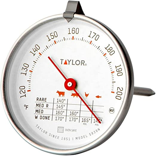 Taylor Precision Products Classic Style Meat Dial Thermometer Set of 2