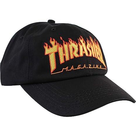 96f697842 Thrasher Magazine Flame Old Timer Black Hat - Adjustable