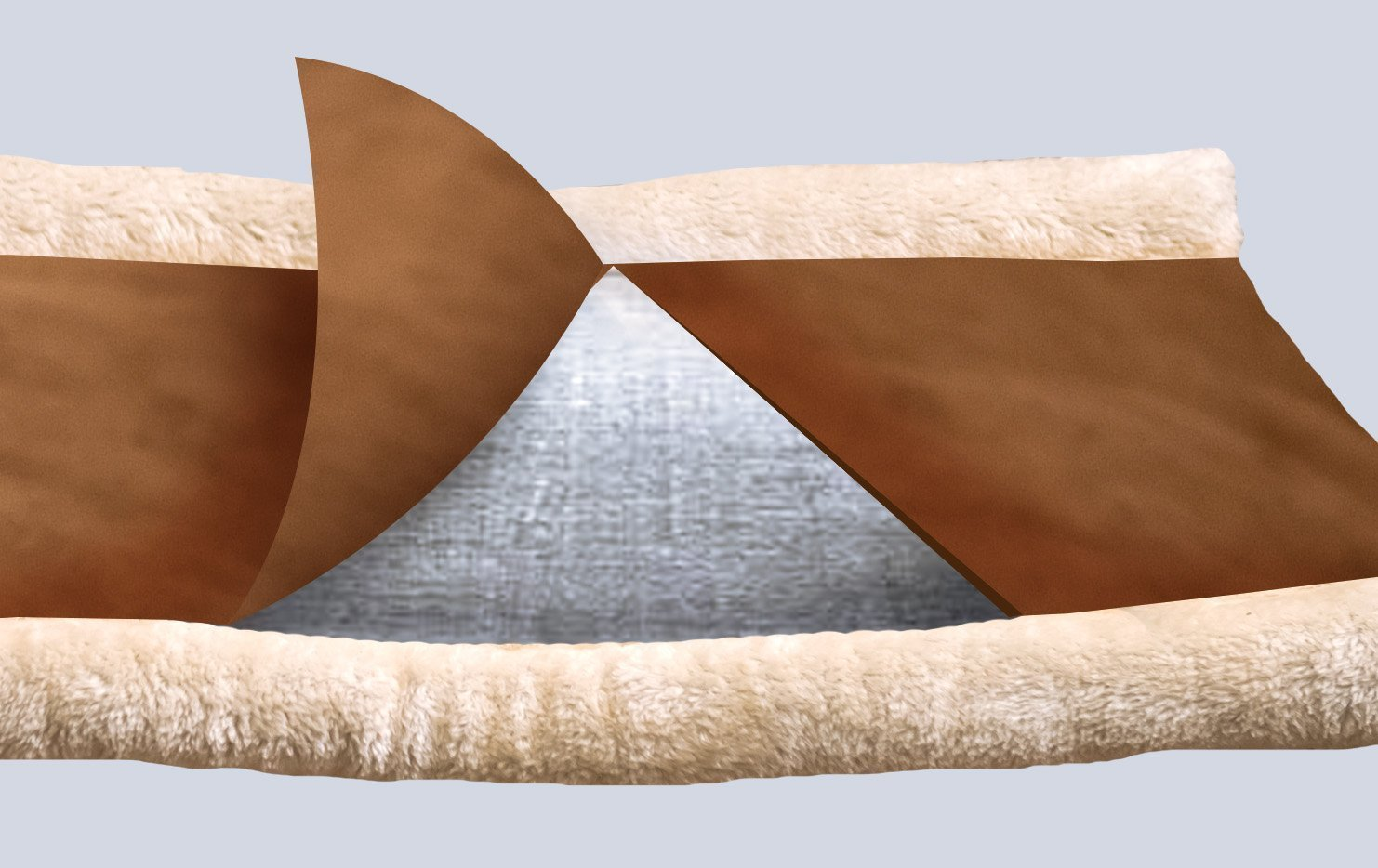 Cat Tunnel Bed Mat Tube Indoor Cushion Mat Puppy Warm Tube Sleeping Bed Pet Supplies Accessories (Brown) Pro-Noke