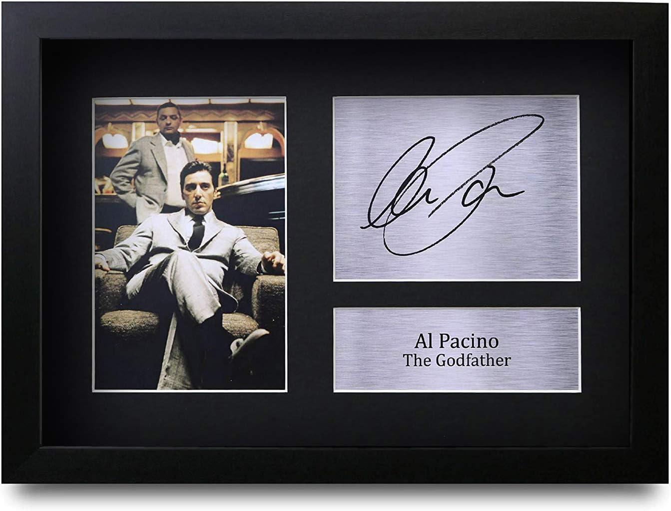 HWC Trading Al Pacino A4 Encadr/é Sign/é Image Autographe Imprim/é Impression Photo Cadeau DAffichage pour The Godfather Les Amateurs De Cin/éma