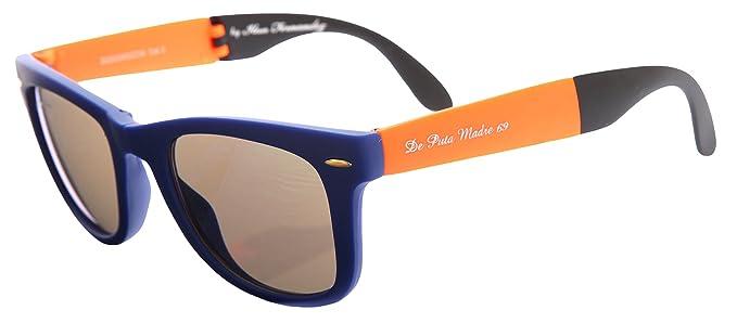 b8d9722ca6 De puta Madre 69 Gafas de sol plegable gafas Azul dz2039s de 2238 de BL de  or de BK: Amazon.es: Ropa y accesorios