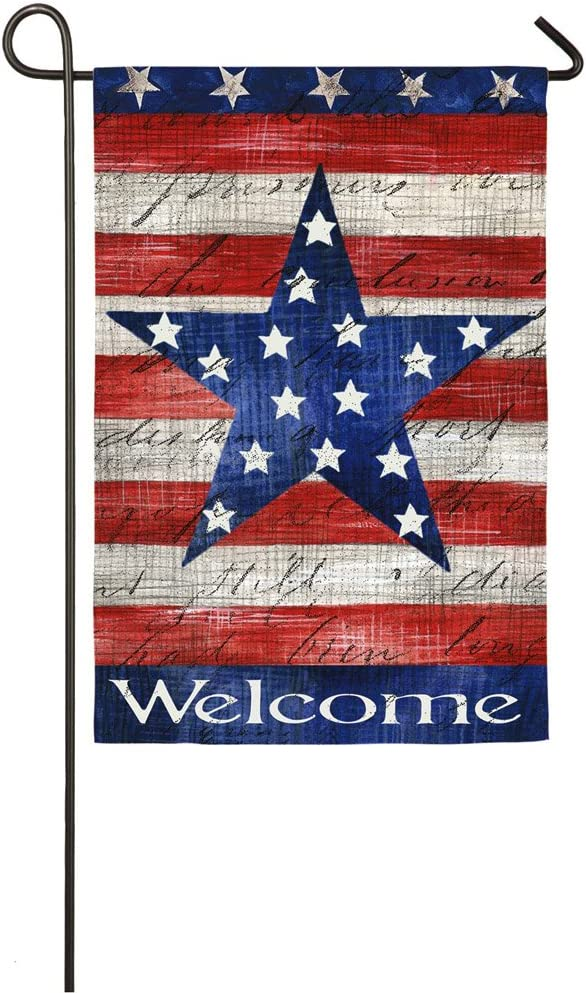 Evergreen Flag Patriotic Stars and Stripes Garden Suede Flag - 12.5 x 18 Inches Outdoor Decor for Homes and Gardens