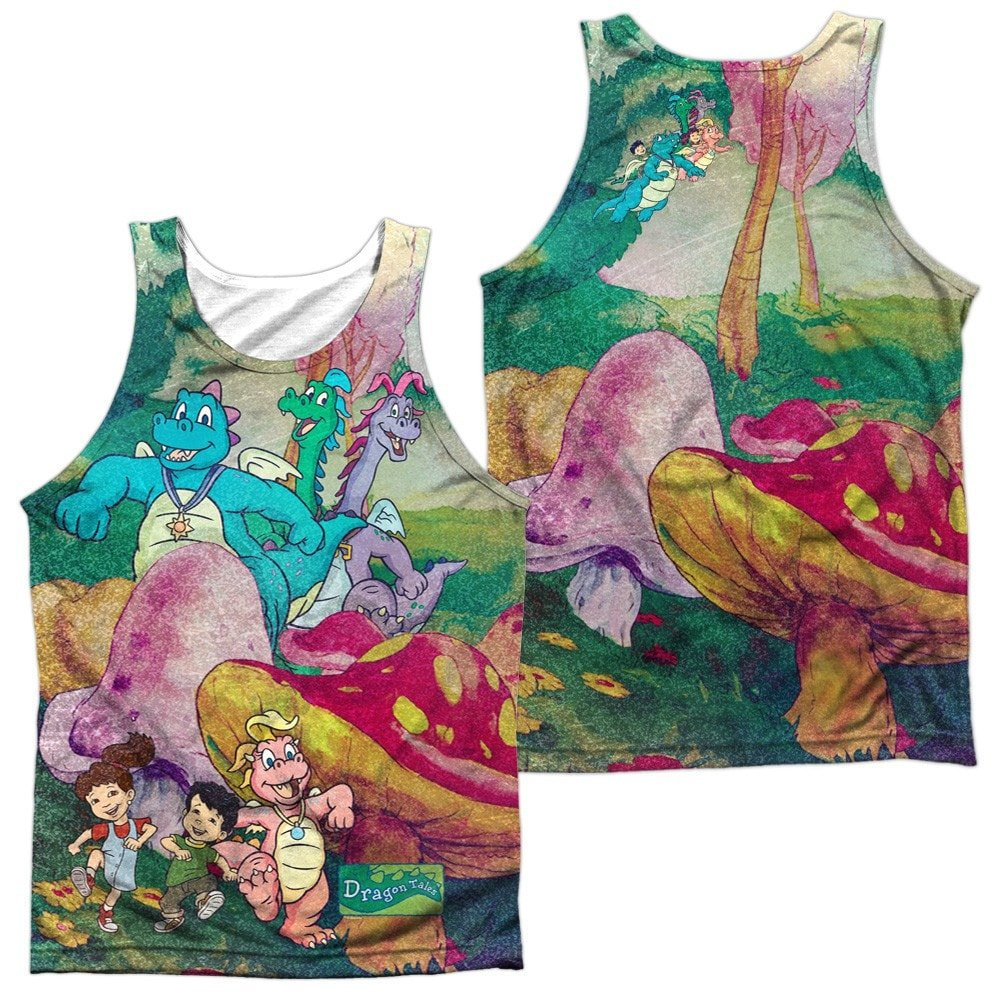 Dragon Tales Mushroom Meadow Adult Tank Top