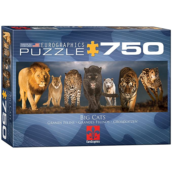 Amazon.com: EuroGraphics Big Cats Jigsaw Puzzle 750 Piece Puzzle: Toys & Games