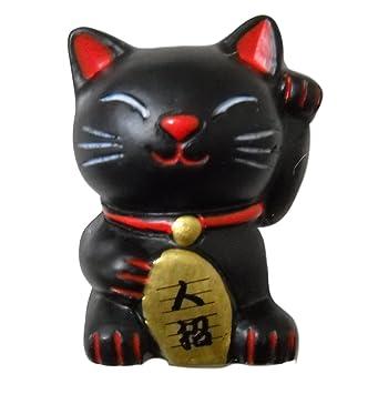 3d imanes de nevera resina Japón Maneki neko Lucky beckoing gato negro: Amazon.es: Hogar