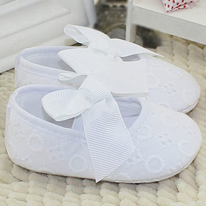 1bcee12b405bb AIVTALK Zapatos Niñas Zapatitos Bebé Prewalker Zapatillas Antideslizante  Sandalias Paño Primesos Pasos Suela Blanda Bowknot 11-13CM 0-18Meses   Amazon.es  ...