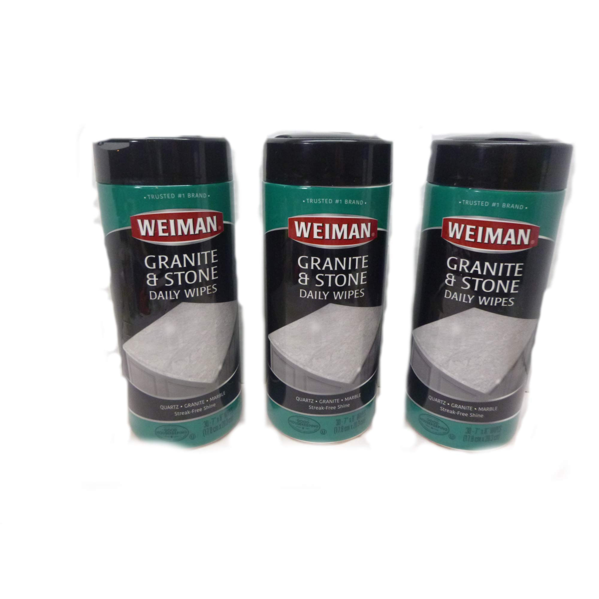 Weiman Granite & Stone Wipes 30 ct Pack of 3 Cleans Granite Marble Non porous hard surface cleaner
