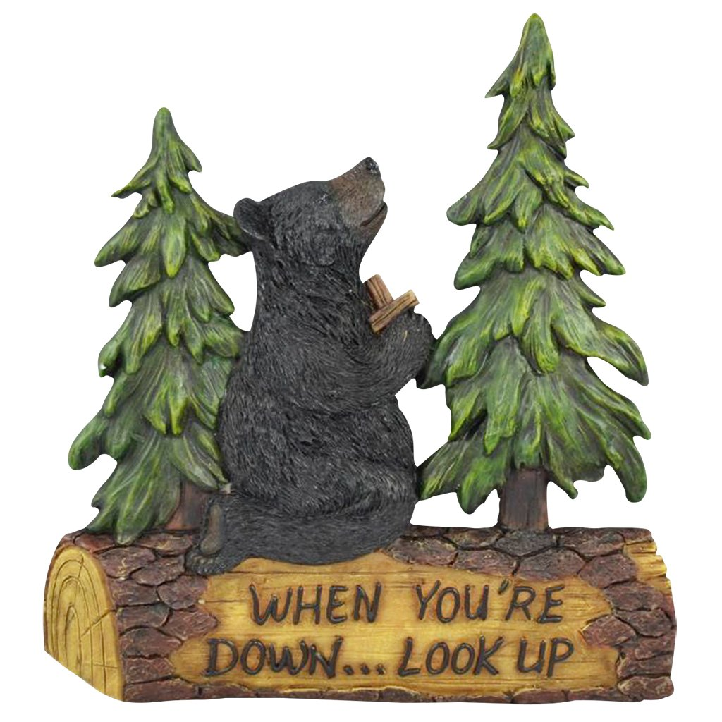 Decorative Wall Plaques Wildlife Gift Ideas Wall Signs for Home Decor Family Black Bear Decorations for Home Grateful Thankful Blessed 7.87 Bear Wall Hanging Lodge Decorations for Home