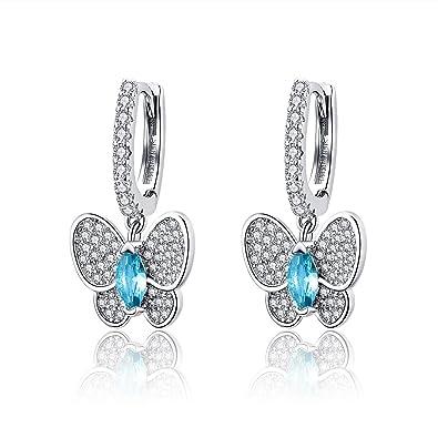 6fbf292b4 Beautiful Butterfly Ear Studs Earrings for Girls Fashion Jewelry Authentic  925 Sterling Silver Jewelry Stud Earrings