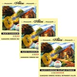 Alice 3 Packs A106 Hard Tension Clear Nylon Silver Plated Copper Alloy Wound Classical Guitar Strings (.0285 .0325 .041 .030 .036 .044)