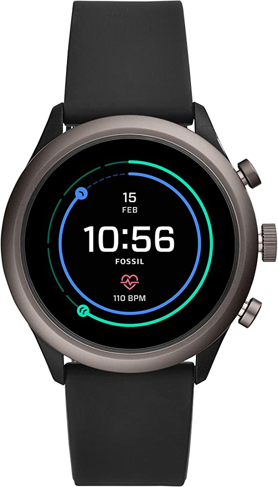 Fossil Men's Sport Metal and Silicone Touchscreen Smartwatch with Heart Rate
