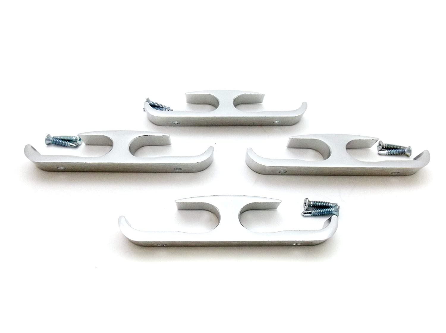 4 Pack Set of No Rust Aluminum Rope Cleat Rope Cargo Tie Down Off Anchor Point Boat Truck Rv Trailer Pick Up