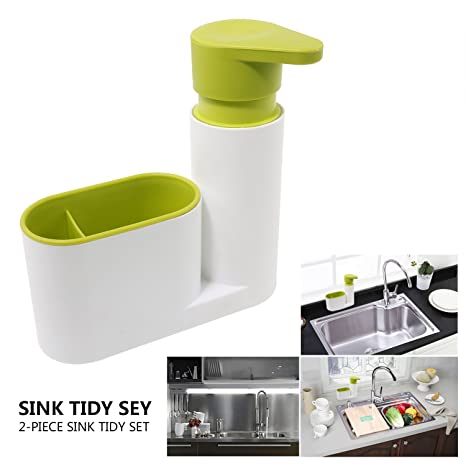 Amazon.com: Soap Dispenser Pump, Sponge And Scrubber Caddy Over The Sink  Caddy Dish Brush Organizer For Kitchen Sink: Home U0026 Kitchen