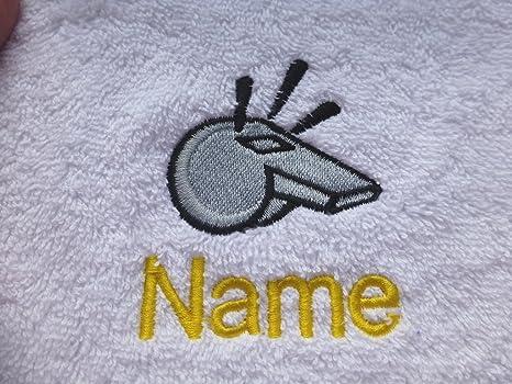 Toalla de baño con silbato Logo y tira de nombre de cada tu elección, 100