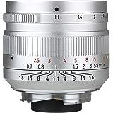 七工匠 7artisans 単焦点レンズ 50mm F1.1 国内正規品 (ライカMマウント) (シルバー)