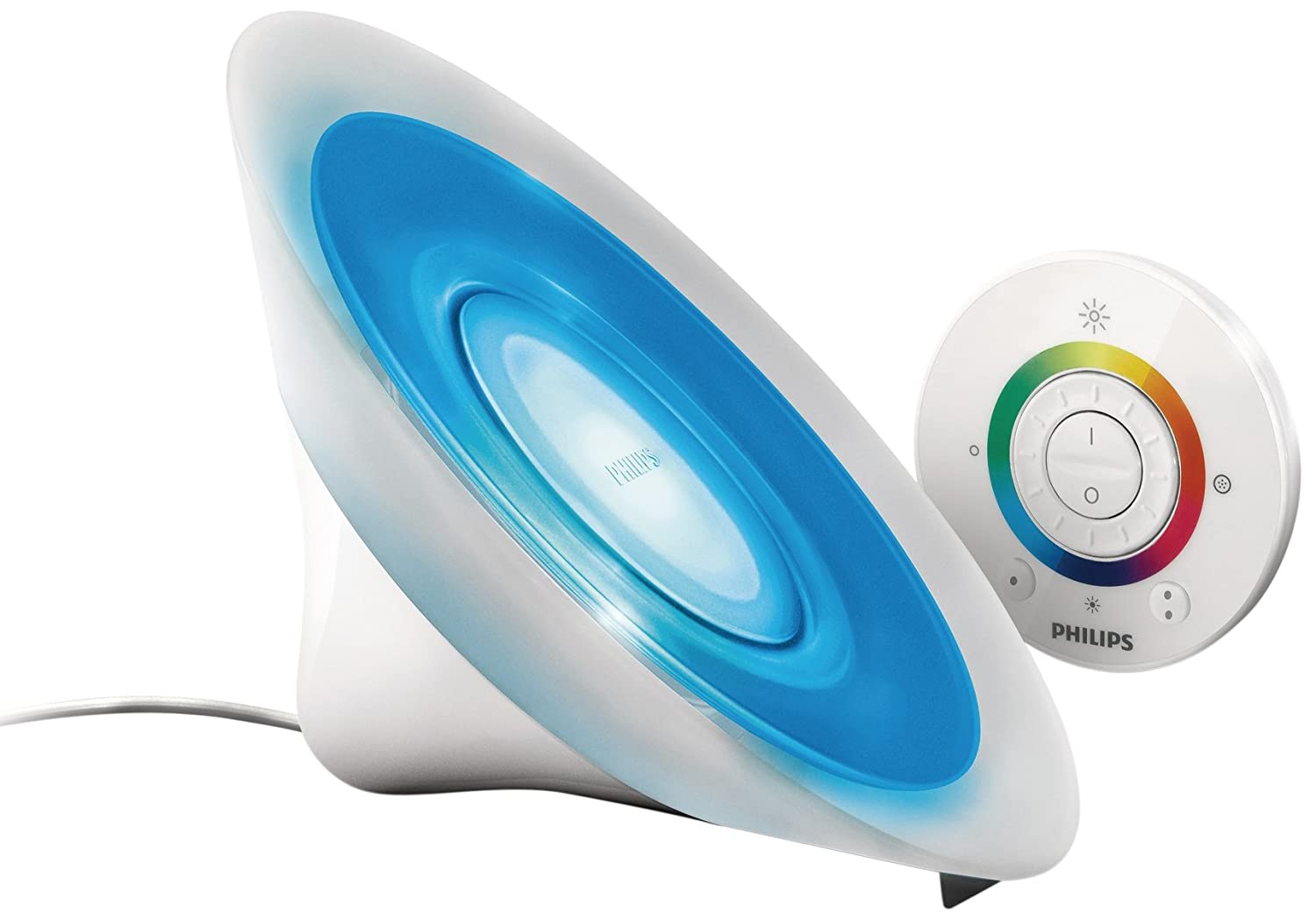 Philips livingcolors aura colour changing mood light white philips livingcolors aura colour changing mood light white integrated 1 x 8 watts led bulb remote control amazon lighting parisarafo Image collections