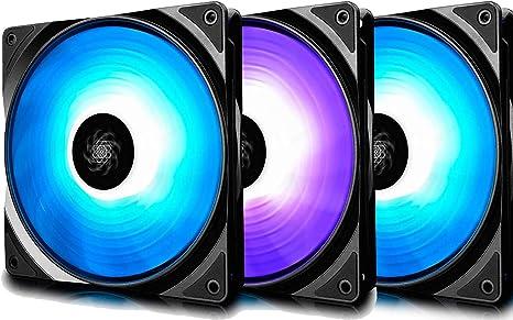 DEEP COOL RF120 Ventilador para Ordenador,3x120mm RGB PWM ...