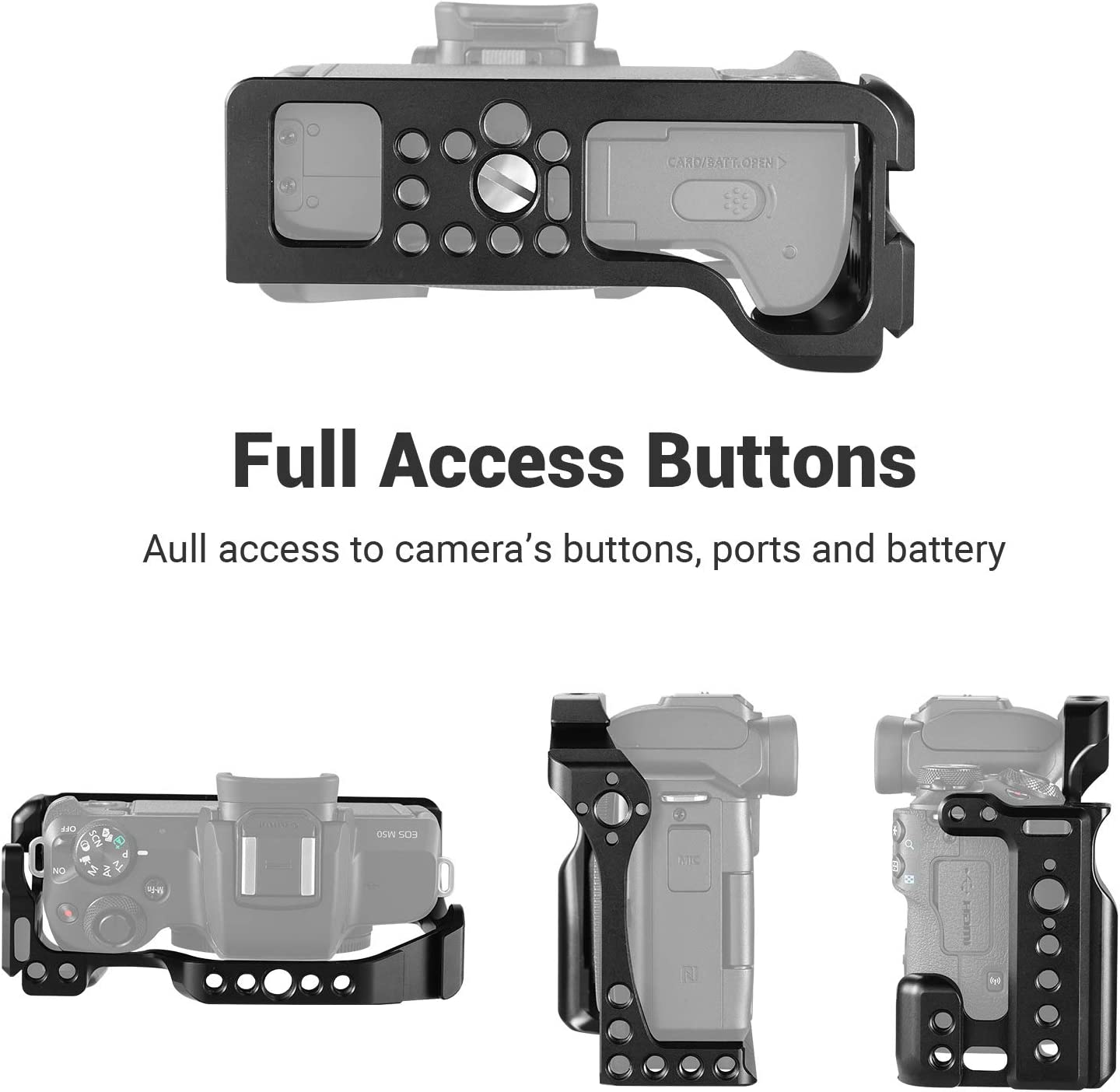 SMALLRIG Cage Kit for Canon EOS M50 and M5 with Top Handle KCCC2703