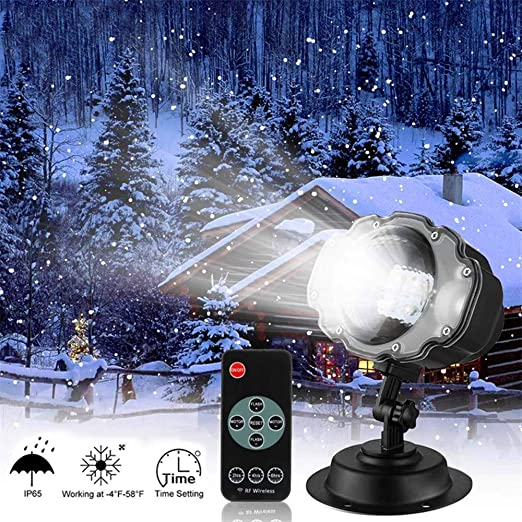 Proyector de nevadas navideñas, proyector de nieve LED Proyector ...