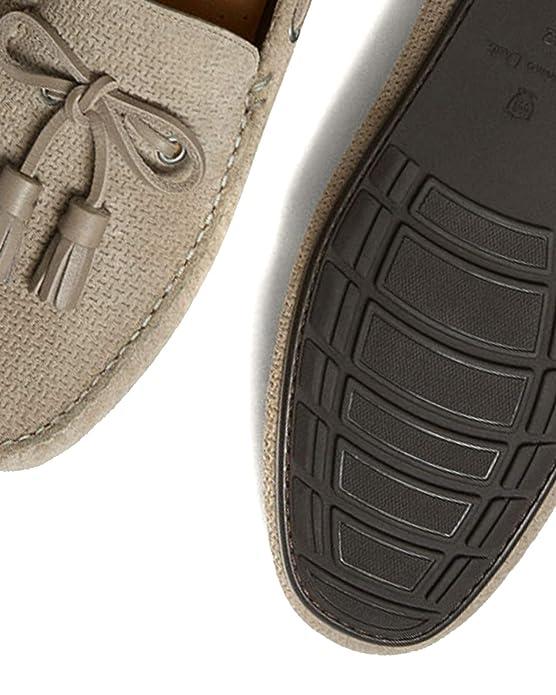 Massimo Dutti - Mocasines de Cuero para Hombre Marrón marrón, Color Marrón, Talla 46 EU: Amazon.es: Zapatos y complementos