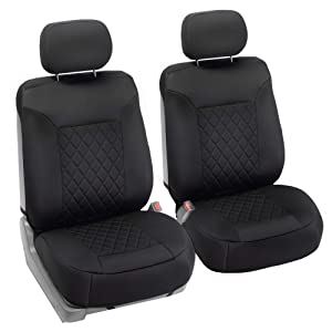 FH Group FB088102 Neosupreme Car Seat Cushion Deluxe Quality, Water Resistant, Non-Slip Backing, Easy Installation, Black Color - Fit Most Car, Truck, SUV, or Van