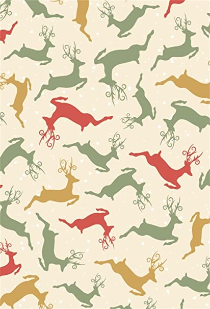 Aofoto 3x5ft Cartoon Christmas Elk Pattern Backdrops Photo Shoot Background Sweet Xmas Decoration Wallpaper Photography Studio Props Girl Kid Newborn
