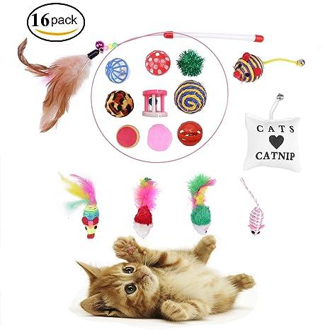 MyCreator 16 en 1 juguetes interactivos para gatos, juguetes para gatos o gatos, juego