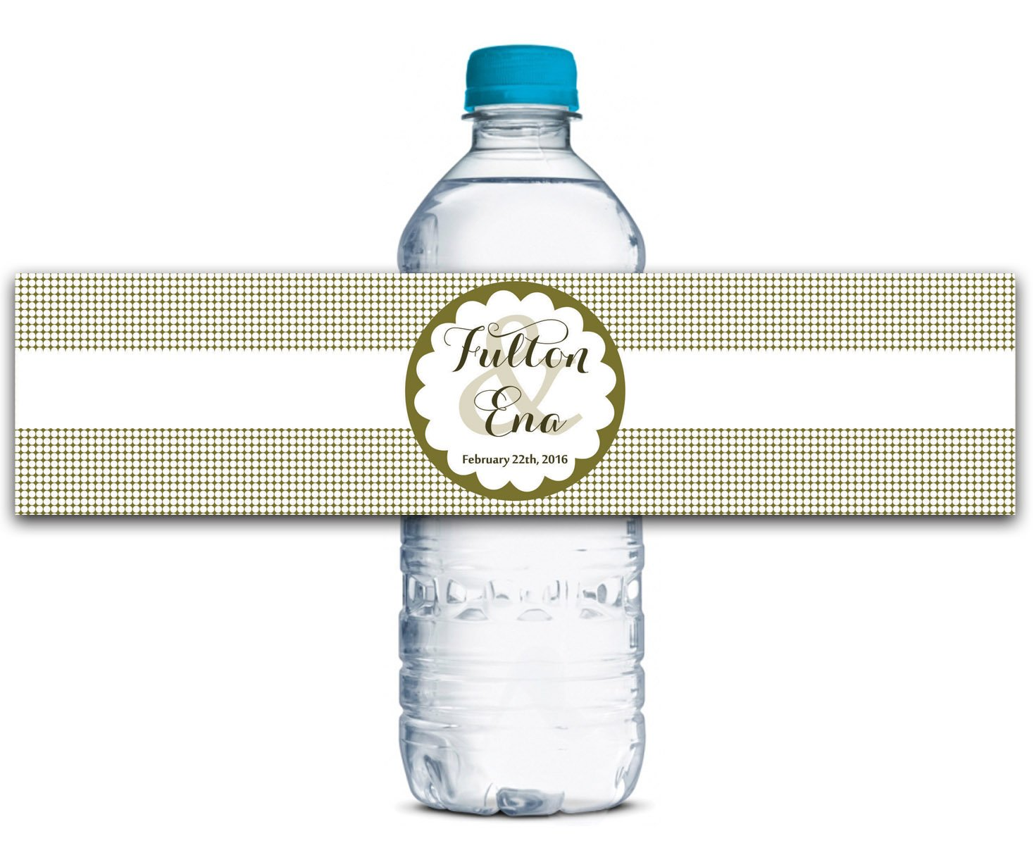 Kleber Wasserdicht Wasserdicht Wasserdicht Kundenspezifische Hochzeits-Aufkleber Personalisierte Wasserflasche Labels 8  x 2  Zoll - 50 Etiketten B01A0W154C | Angemessener Preis  9a8801