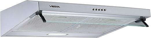 VIESTA VDU6080SR subestructura - campana extractora 60cm - instalación campana de pared y LED - función escape y recirculación - acero inoxidable: Amazon.es: Hogar