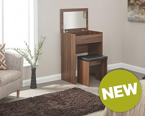 Gb furniture compact tavolo da toeletta unità makeup dresser