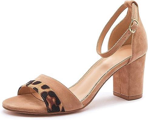 Adokoo Women's Heeled Sandals Open Toe