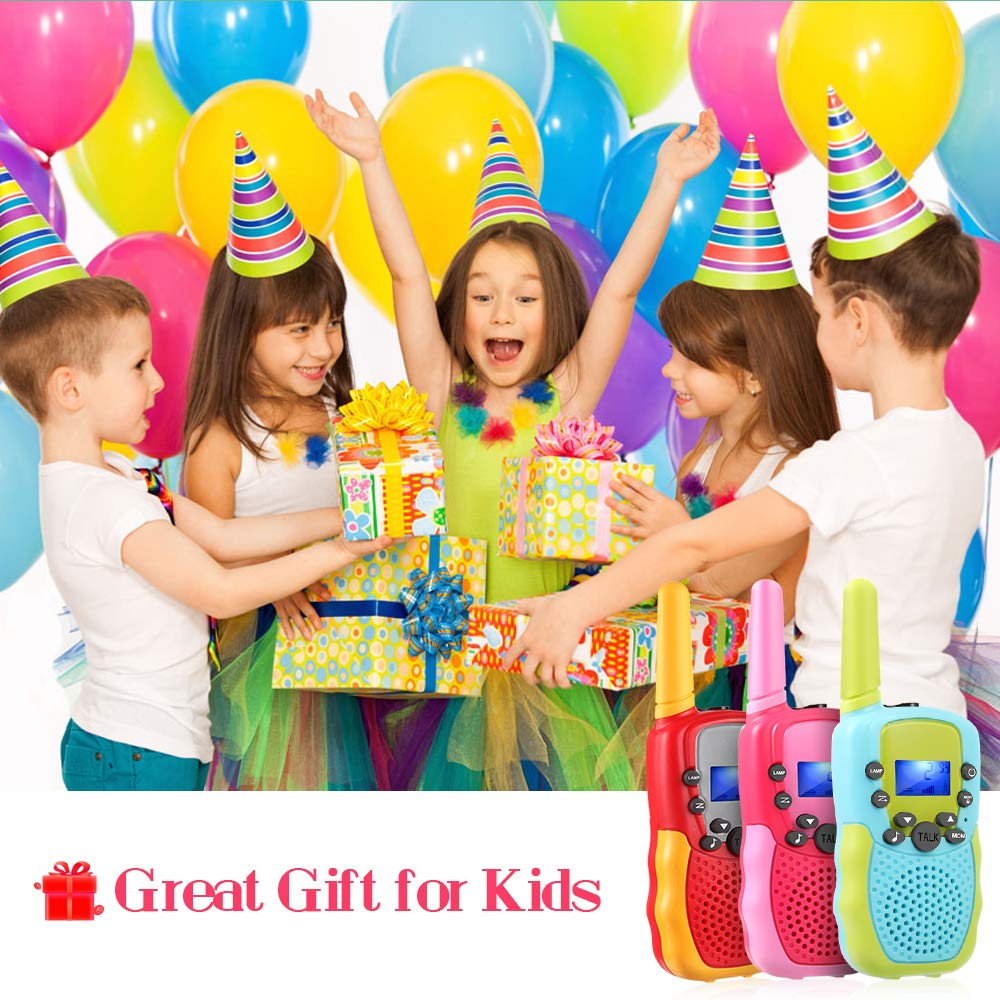 OMWay 3 Pack Kids Walkie Talkies, Toys for Girls 3-12 Year Old,Best Birthday Gifts for Kids. by OMWay (Image #3)