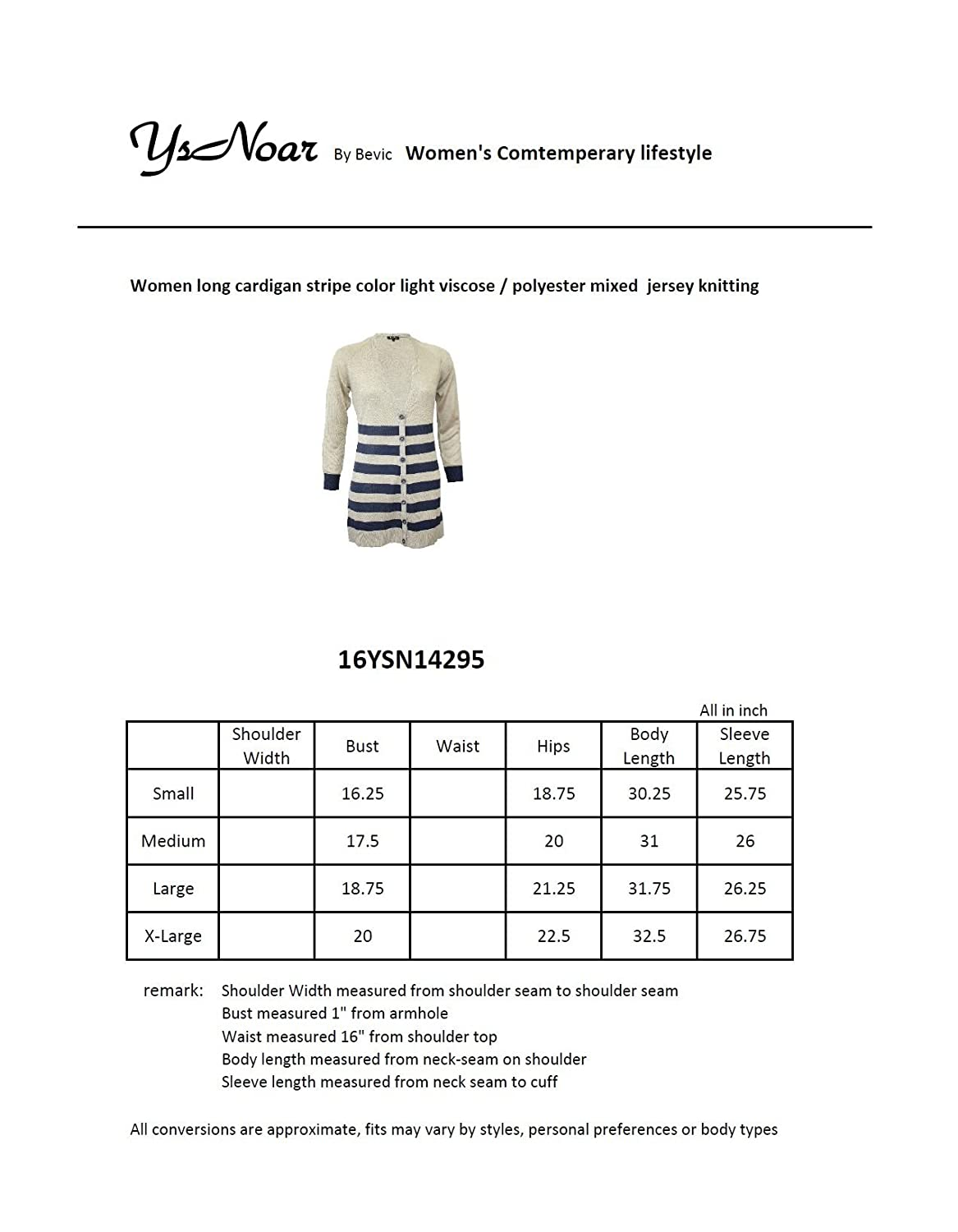 Long Cardigan pullover stripe colors allover light cotton material