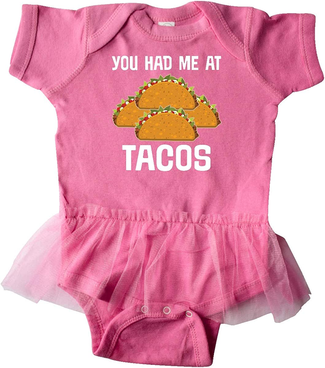 inktastic You Had Me at Tacos Infant Tutu Bodysuit