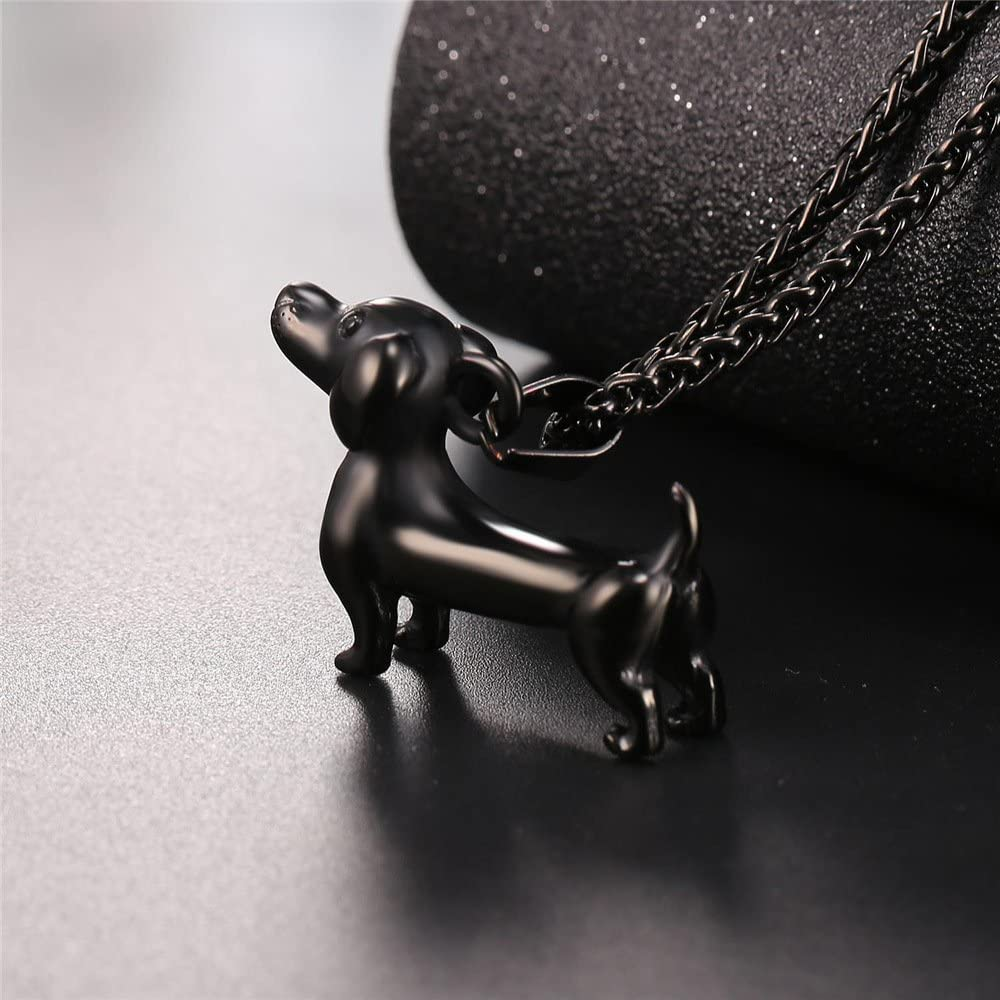 U7 Women Teen Girls Boys Cute Animal Necklace Stainless Steel//18K Gold Plated Pet Series Jewelry Pig//Dachshund//Panda Bear//Horse//Camel//Dolphin//Sheep//Turtle Pendant Necklace with Chain 22 Inch