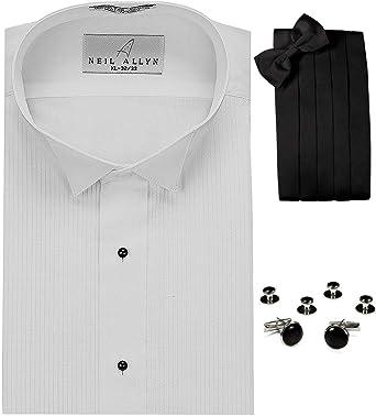Neil Allyn ala Cuello Esmoquin Camisa, fajín, Pajarita, Gemelos & Studs Set: Amazon.es: Ropa y accesorios