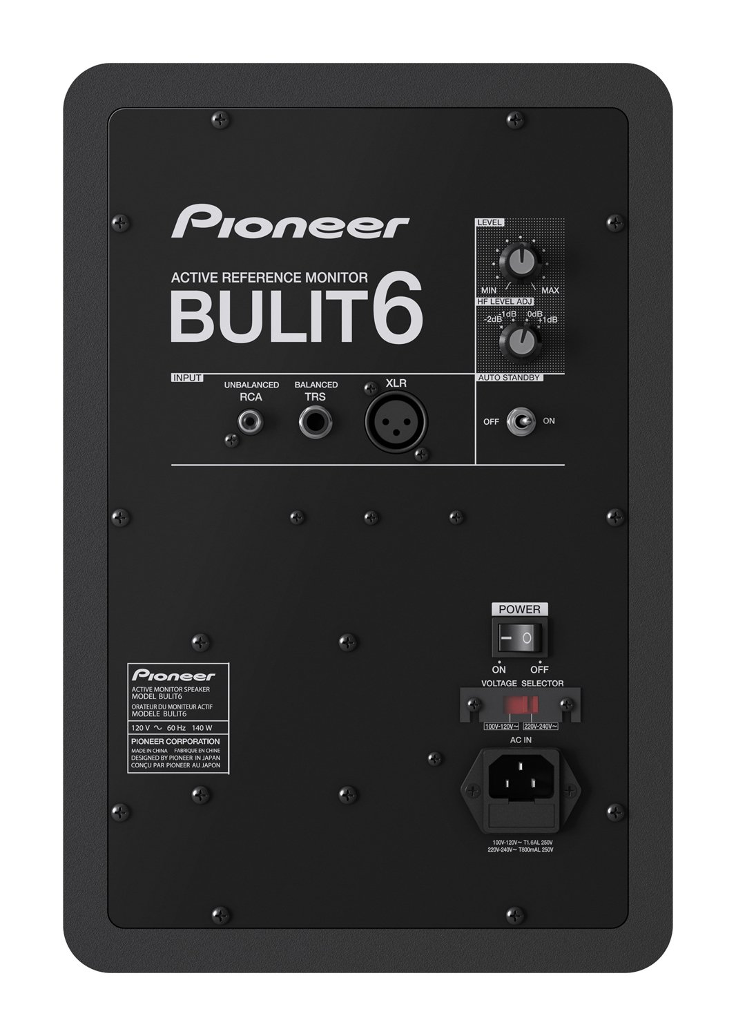Back facing Pioneer BULIT6