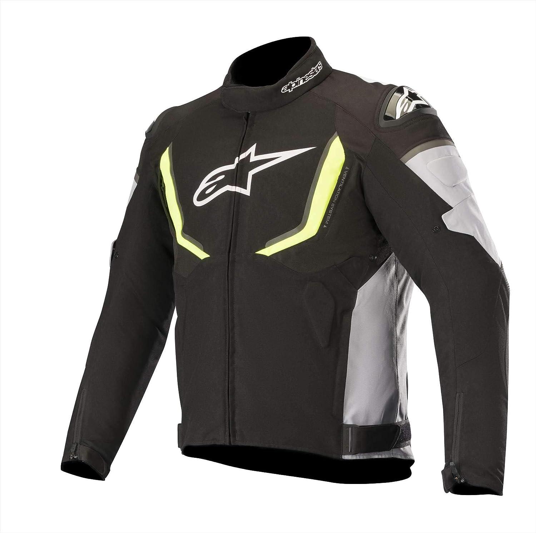 Black//White M Motorcycle jackets Alpinestars T-gp R V2 Waterproof Jacket Black White