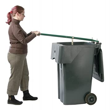 Wheelie-Mate - Compactador de basura para contenedores con ruedas, comprime los desechos para crear más espacio en el contenedor: Amazon.es: Jardín