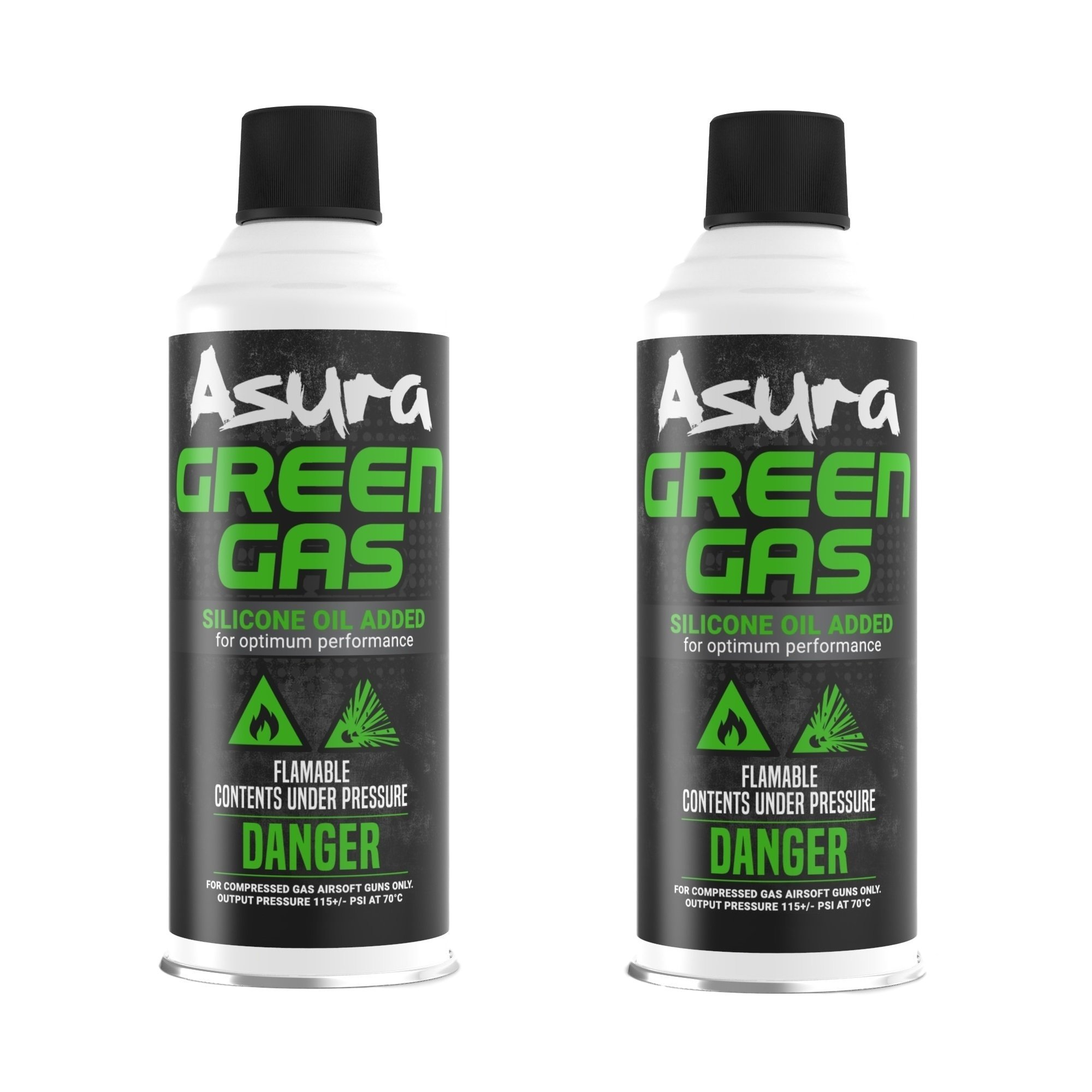Asura Power Green Gas G-1000, Pack of 2 by Asura