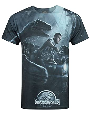 Official Jurassic World Raptors Sublimation Mens T-Shirt ...
