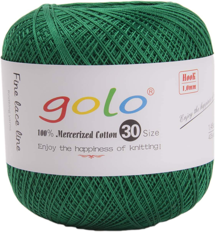 golo Crochet Thread Green for Hand Knitting