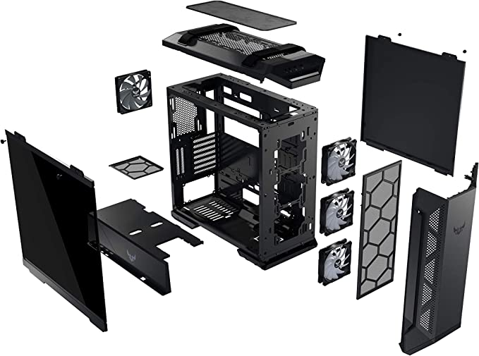 ASUS TUF Gaming GT501 - Caja de ordenador (Midi ATX Tower, PC, de ...