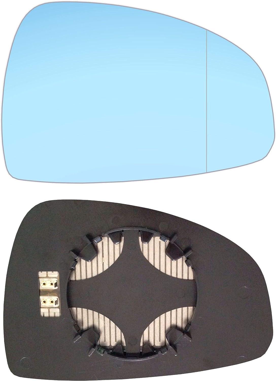 Rechts Blau Beifahrerseite Asph/ärish Spiegelglas mit Platte und Heizung #AM-AITT06-RWABH