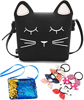 376b657243ac Amazon.com: Xhenry Little Girls Purses Pink Cute Cat Shoulder ...