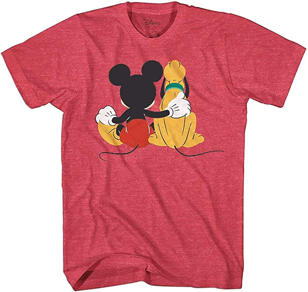 Disney Mickey and Pluto Best Friends Adult T-Shirt