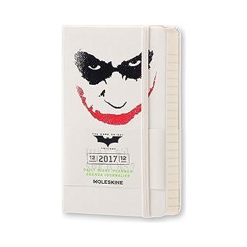 Moleskine DBA12DC2Y17 - Agenda semanal 18 meses, diseño Batman, edición limitada, pocket 9 x 14, color blanco