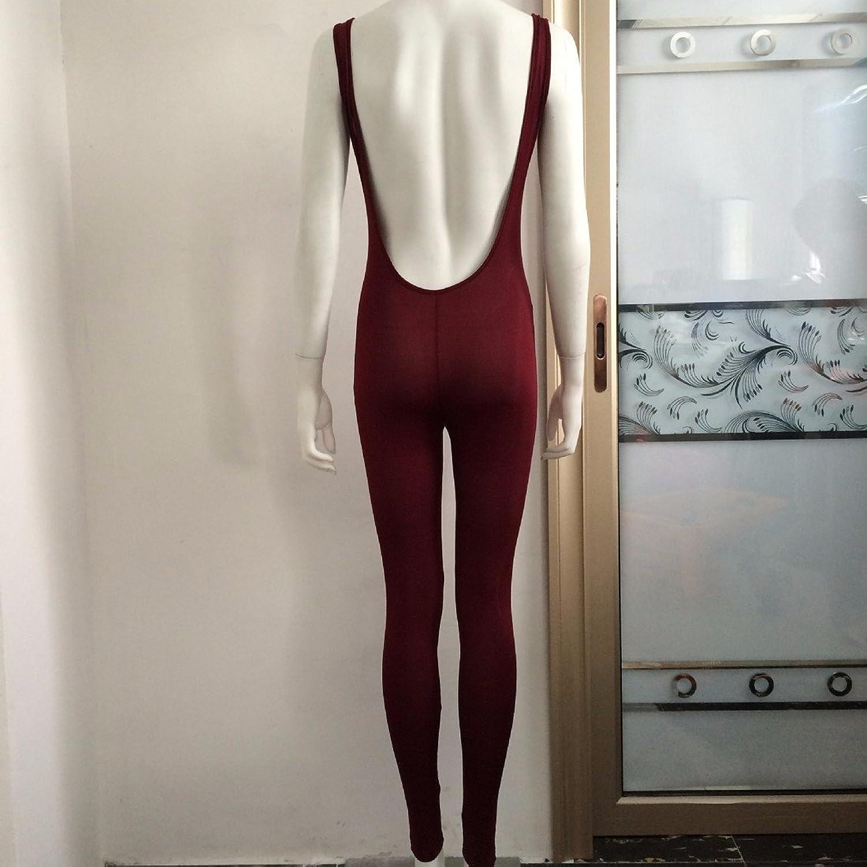 Solid Bandage Jumpsuits Sleeveless Bodysuit Bodycon Legging Pants Cocktail Dress