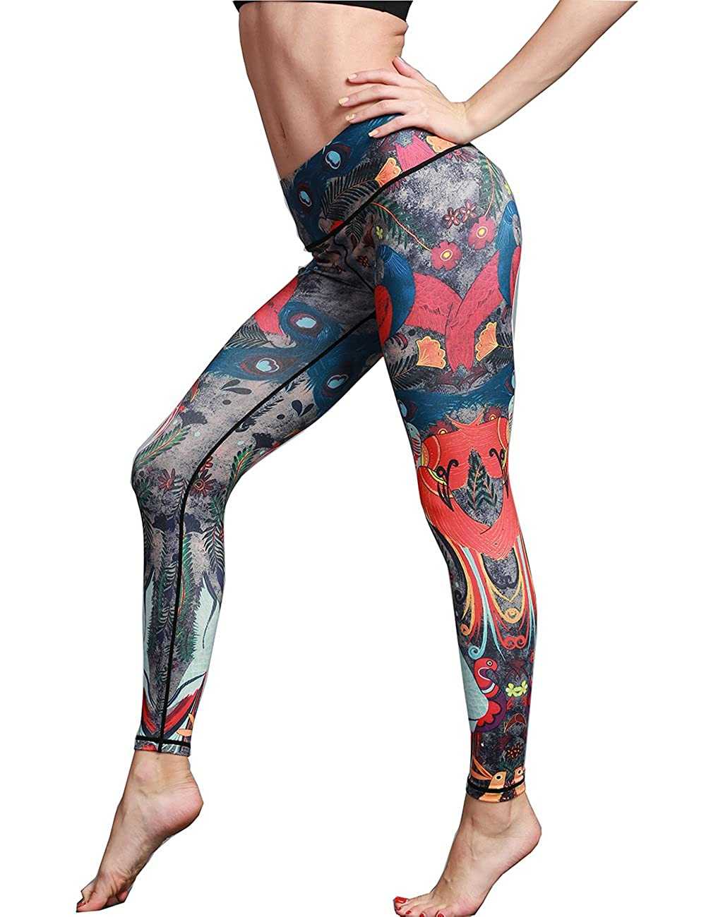 14c45bb381f063 Top1: Alsol Lamesa Yoga Leggings for Women Sport Gym High Waist Pants  Fashion Printed Pattern Workout Active Wear