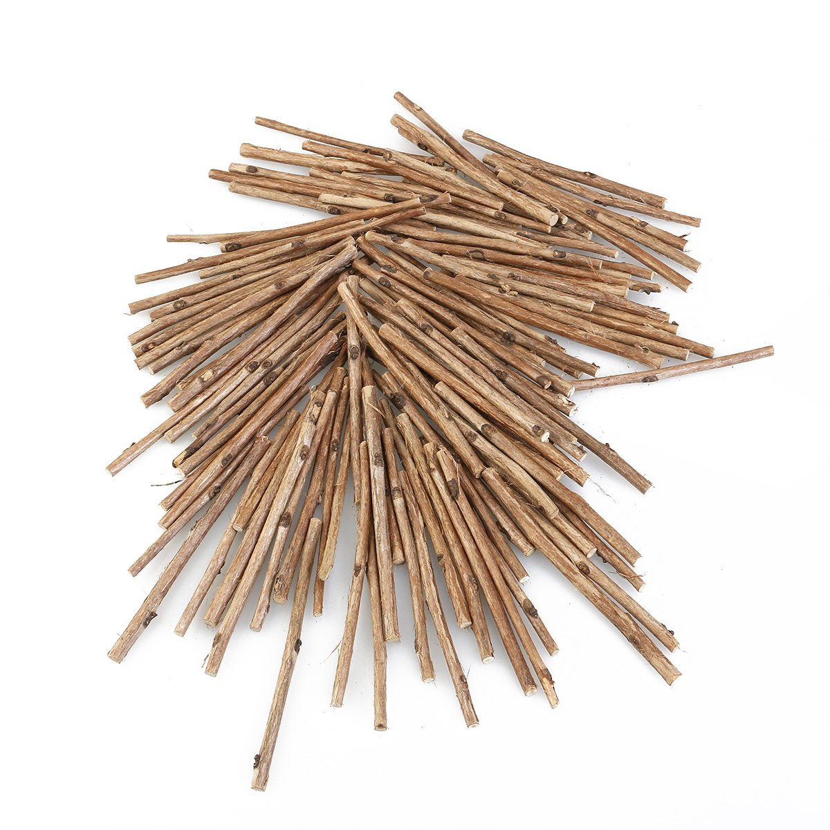 WINOMO 100pcs Wood Log Sticks for DIY Crafts 10CM Long 0.3-0.5CM in Diameter Wood Color